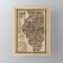 State of Illinois Map (1836) Framed Mini Art Print