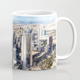 Dubai, United Arab Emirates Watercolor Skyline Coffee Mug