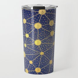 Cryptocurrency mining network Travel Mug