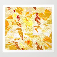 amber space geometry Art Print