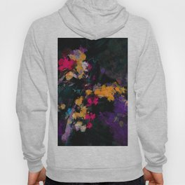 Purple and Yellow Abstract / Surrealist Painting Hoody