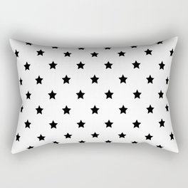Black and white Star Pattern Rectangular Pillow
