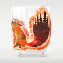 Firefox Shower Curtain