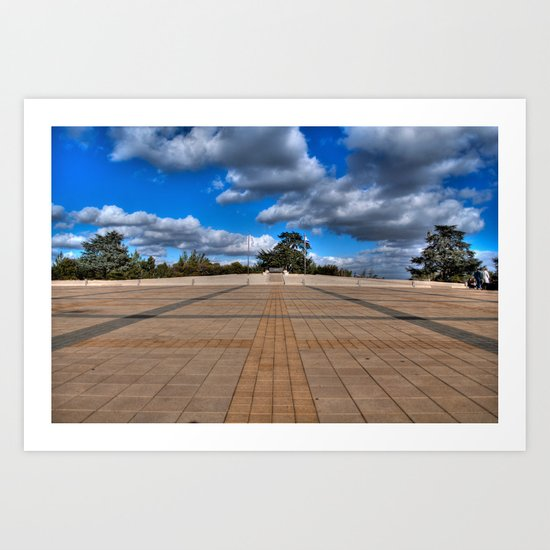 The Grave of Theodore Herzl Art Print