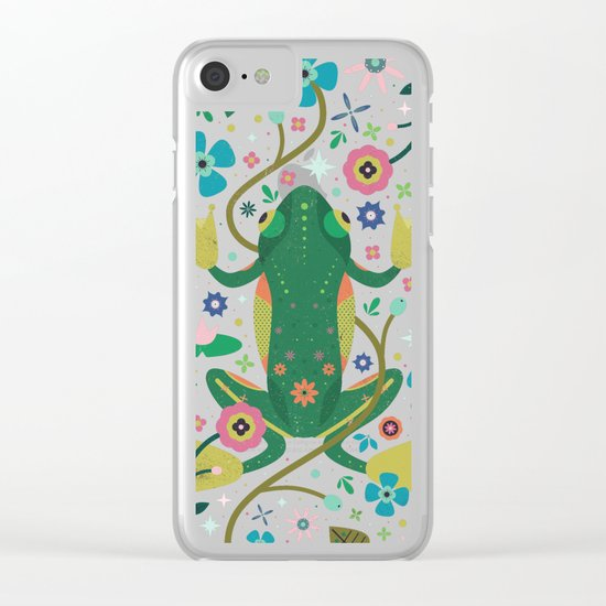 Botanical Frog  Clear iPhone Case