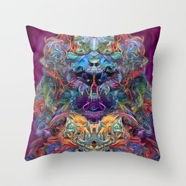It's all in the bud Throw Pillow