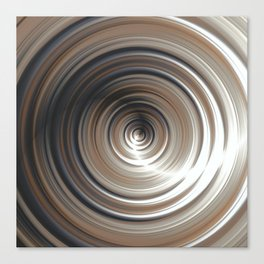 Cosmic Swirl: digital art with concentric circles Canvas Print