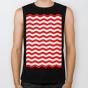 Wavy Stripes (Red/White) by 10813apparel