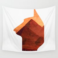 egypt Wall Tapestries featuring Egypt by Mehdi Elkorchi