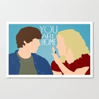 "almost famous Canvas Prints featuring Almost Famous ""You Are Home"" by DeanFred Rex"