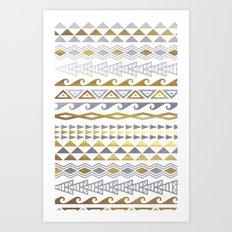 flash tattoo pattern Art Print