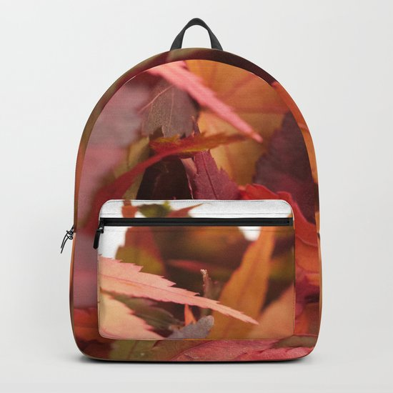 Autumn Colored Leaves #1 #foliage #decor #art #society6 Backpack