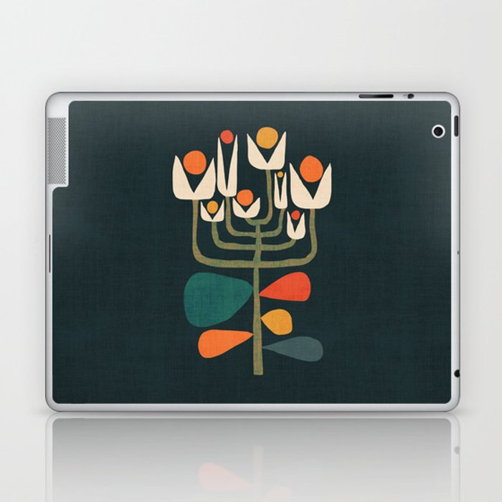 Retro botany Laptop & iPad Skin