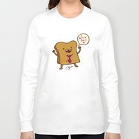 bread Long Sleeve T-shirts featuring bread by Melissa Ballesteros Parada