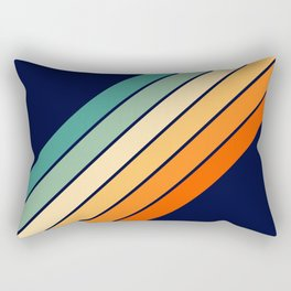 Farida - 70s Vintage Style Retro Stripes Rectangular Pillow