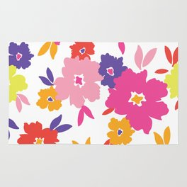 Large Colorful Florals Rug