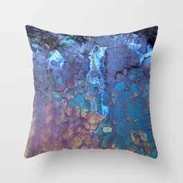Waterfall. Rustic & crumby paint. Throw Pillow