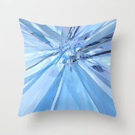 Blue Crystals Throw Pillow