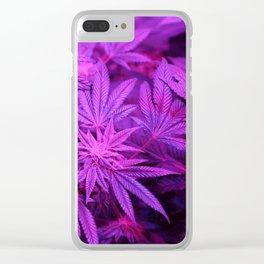 Hemp Cannabis 420 Stoner Hippy Trippy Pot Leaf Print Clear iPhone Case