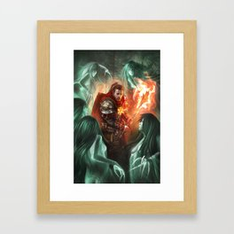 Burning Sun Cleric Framed Art Print