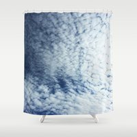 neverland Shower Curtains featuring Neverland Clouds by GIZIBE