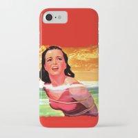 bondage iPhone & iPod Cases featuring Beach Blanket Bondage by sasha alexandre keen
