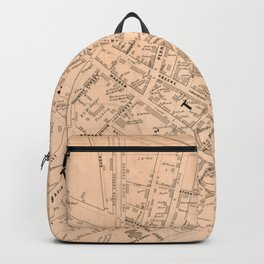 Vintage Map of Trenton NJ (1849) Backpack