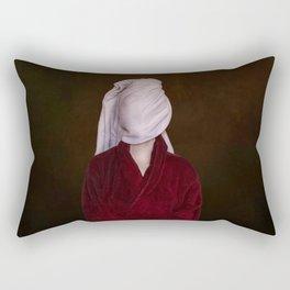 After shower portrait Rectangular Pillow