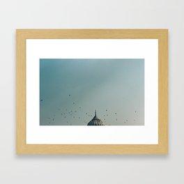 India sky Framed Art Print