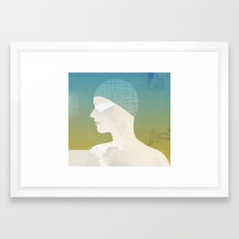 Winter Swim Framed Art Print
