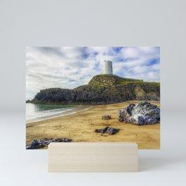 Llanddwyn Island Lighthouse Mini Art Print