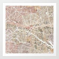 berlin Art Prints featuring Berlin by Mapsland