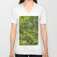 jungle V-neck T-shirts featuring Jungle by Mauricio Santana