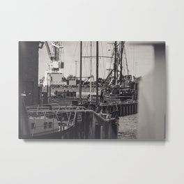 Hafen Wismar Metal Print