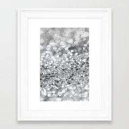 Silver Gray Lady Glitter #1 #shiny #decor #art #society6 Framed Art Print