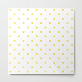 Polka Dots Pattern: Yellow Metal Print