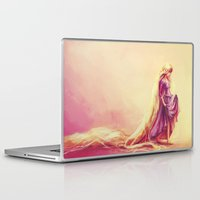 hair Laptop & iPad Skins featuring Gilded by Alice X. Zhang