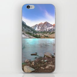 Sunrise over the Maroon Bells iPhone Skin