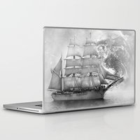 uncharted Laptop & iPad Skins featuring Sailing uncharted waters by Sney1