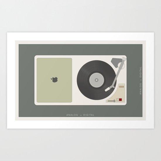 Analog vs. Digital (round II)  Art Print