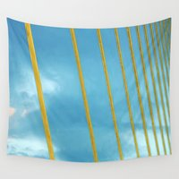 cage Wall Tapestries featuring The cage by Maria Julia Bastias