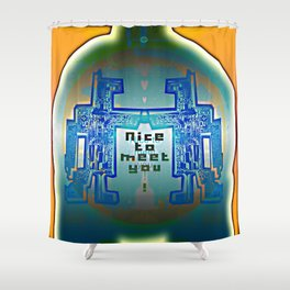 Nice to meet You / Robotic Lab Shower Curtain