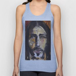 Christ with yellow eyes Unisex Tank Top