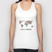 map Tank Tops featuring map  by mark ashkenazi