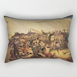 African American Masterpiece 'Mississippi Noah' by John Steuart Curry Rectangular Pillow