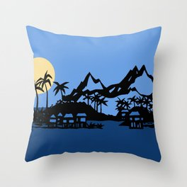 Southern Island Throw Pillow