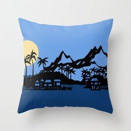 Southern Island Throw Pillow