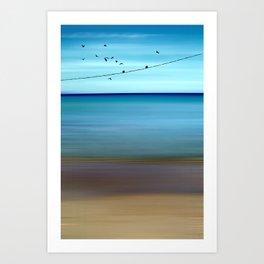 Cretan Sea & Birds II Art Print