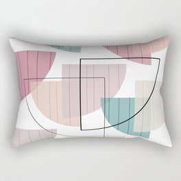 Mid Century Modern Colorful Rectangular Pillow