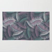 fern Area & Throw Rugs featuring fern by kociara